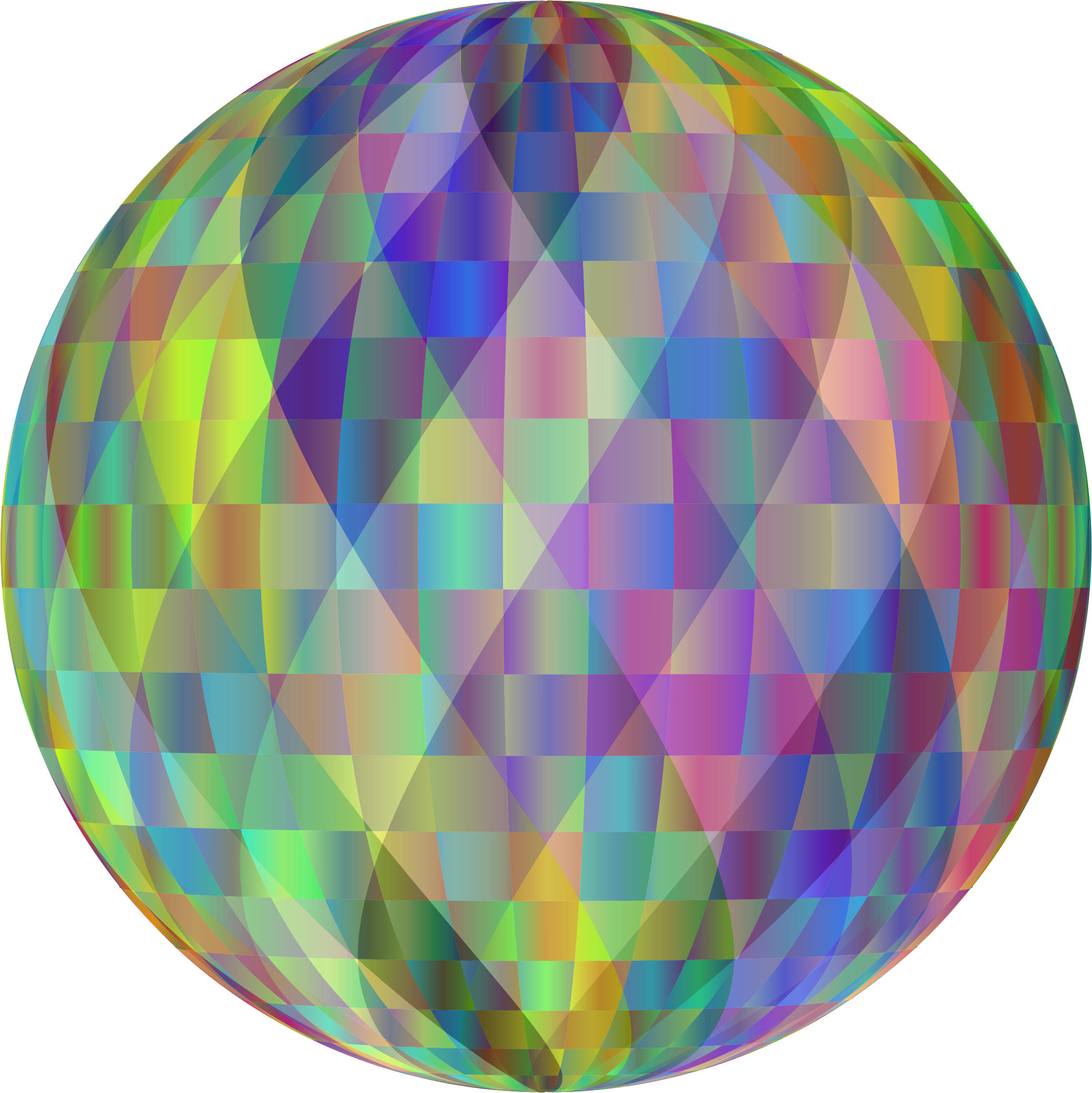 Geometric sphere png. Prismatic abstract icons free