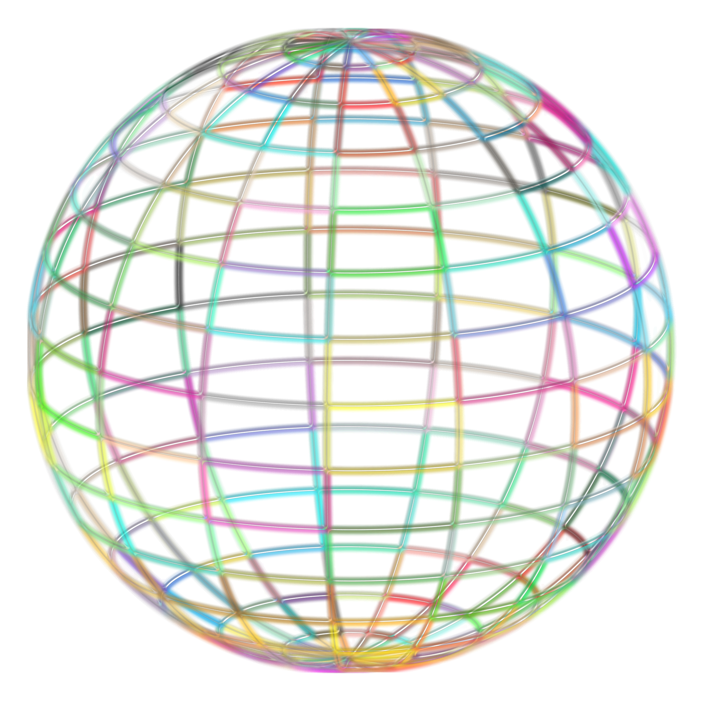 Geometric sphere png. Beach ball wireframe icons