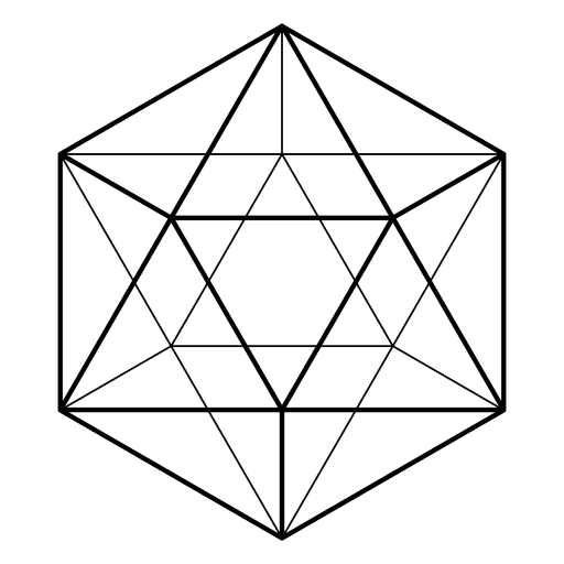 Vector composition geometric shapes. D sacred geometry