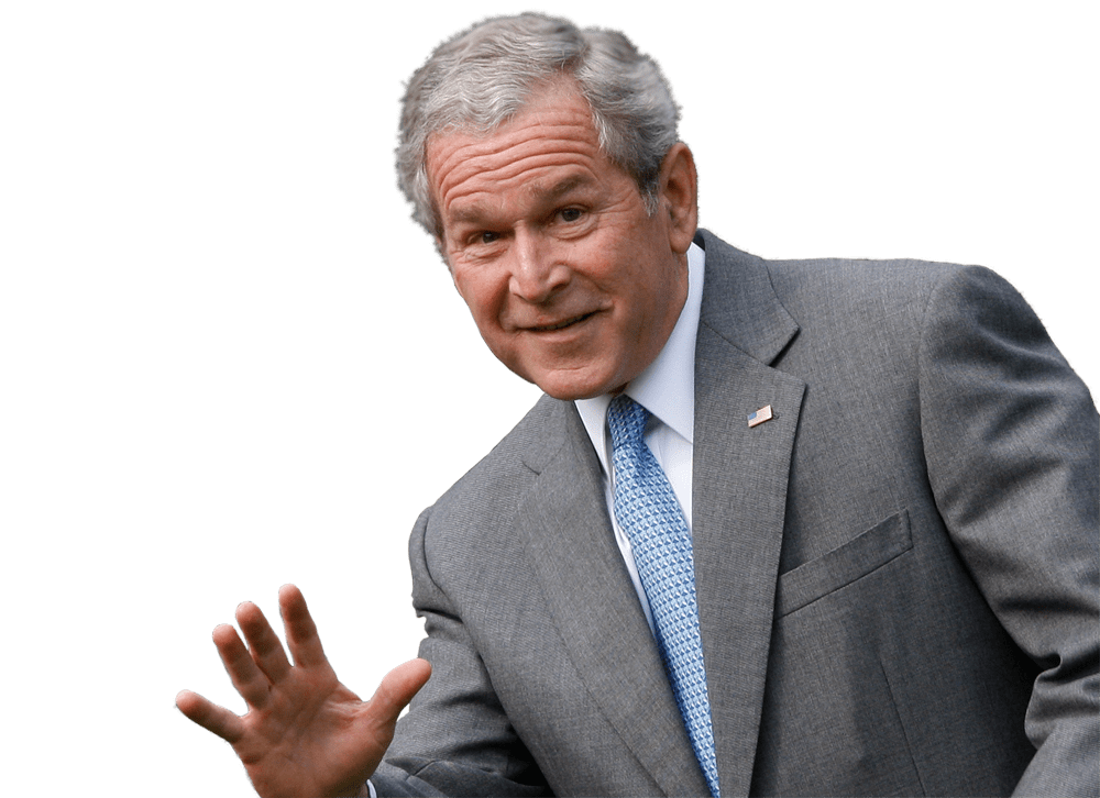 George bush png. Georges w president face