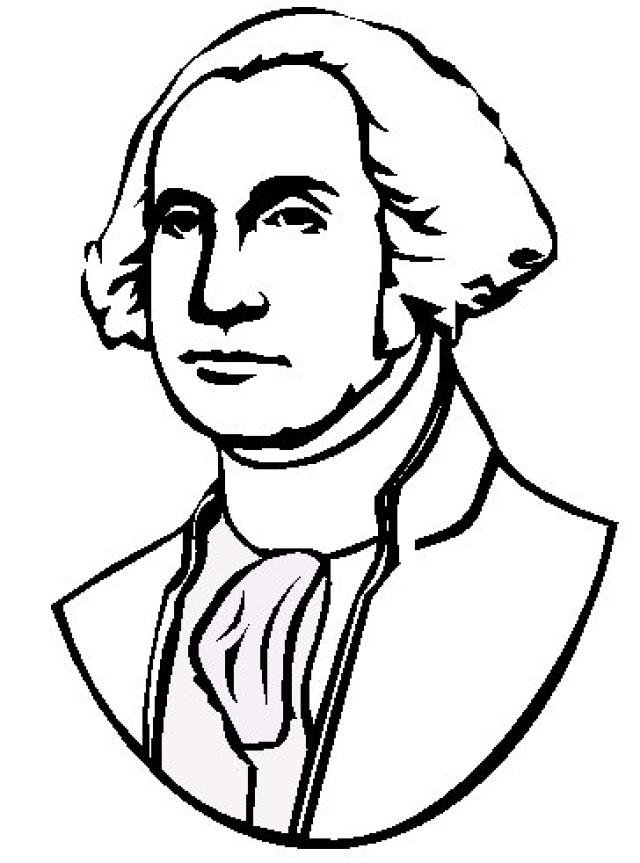 George washington clipart general clipart. Coloring page airtan us