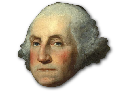 george washington wig png