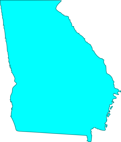 Georgia outline png. Blue clip art at
