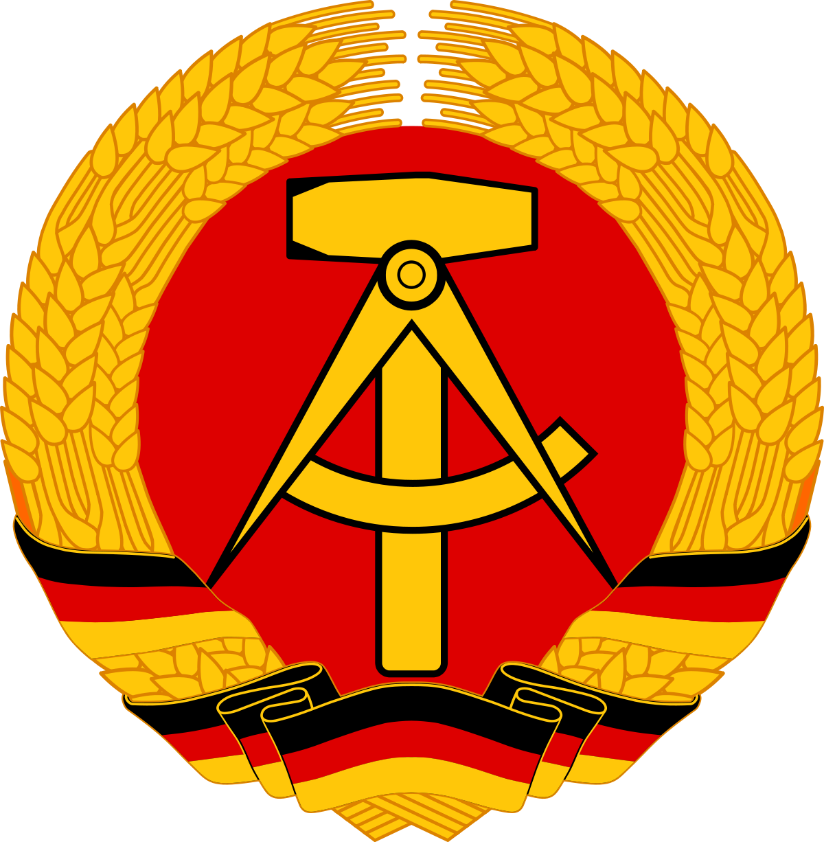 Germany clipart yellow. National emblem of east