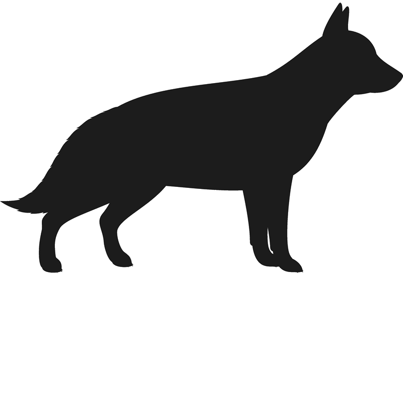 german shepherd silhouette png