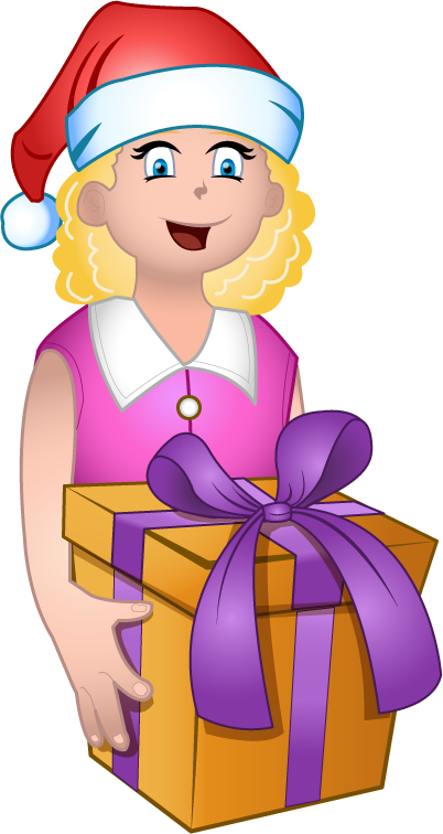 Get clipart gift. Free clip art holiday