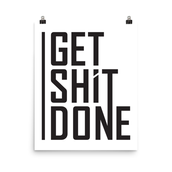Get shit on png. Done poster aaron levie