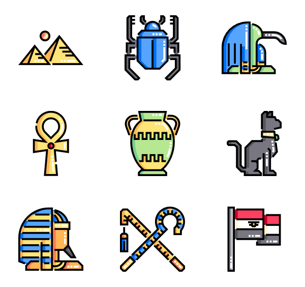 Industrial vector flat. Sun icons free egypt