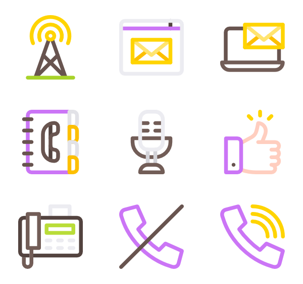 Vector contact phome. Email icons free us