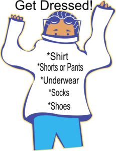 Getting dressed clipart clip. Chore get art at