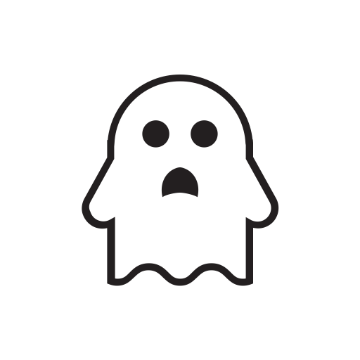 Ghost cartoon png. Halloween horror terror spooky
