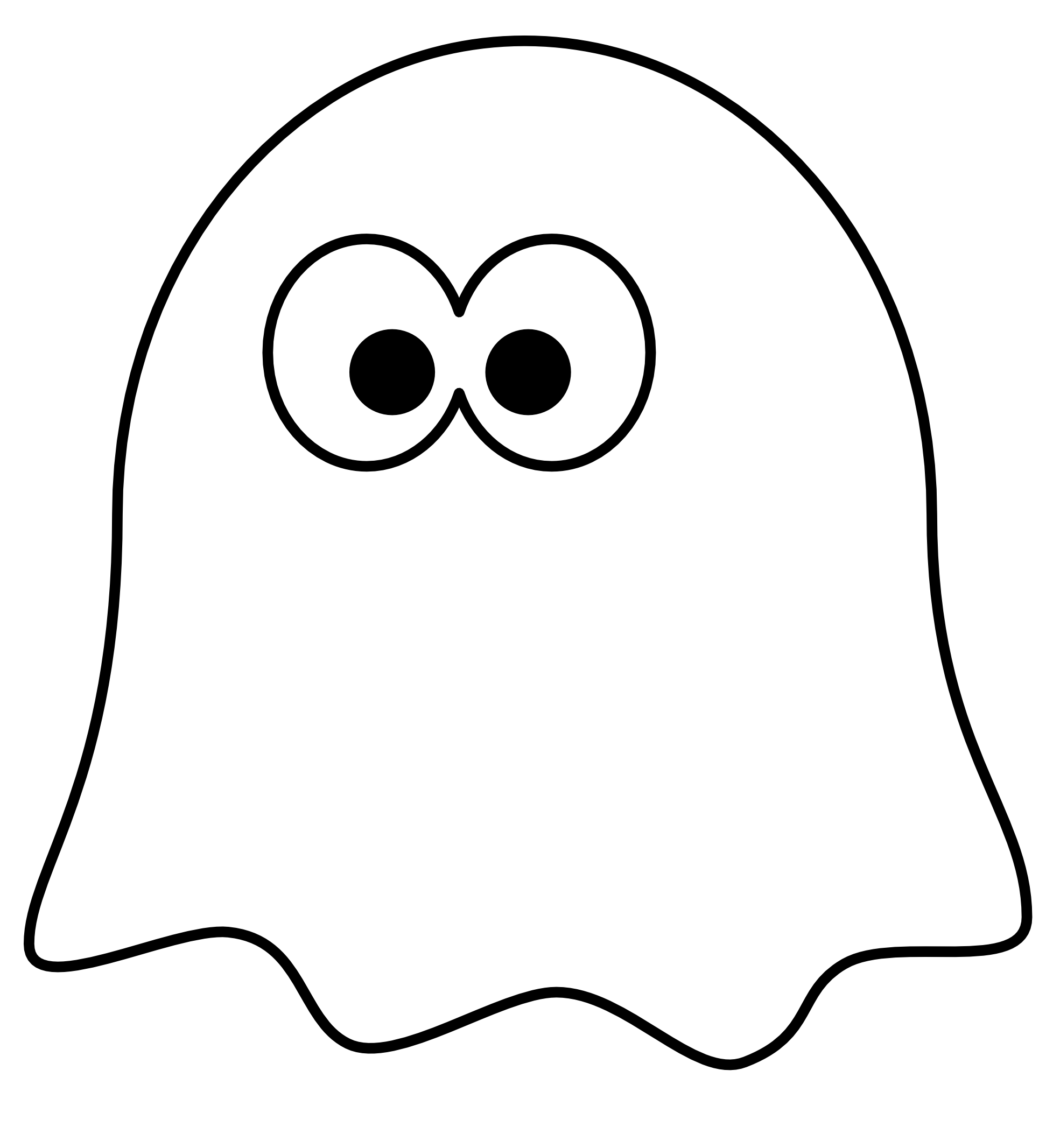 Outline clip art clipart. Ghost cartoon png clipart
