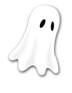 Clipart small graphics illustrations. Ghost cartoon png clipart black and white