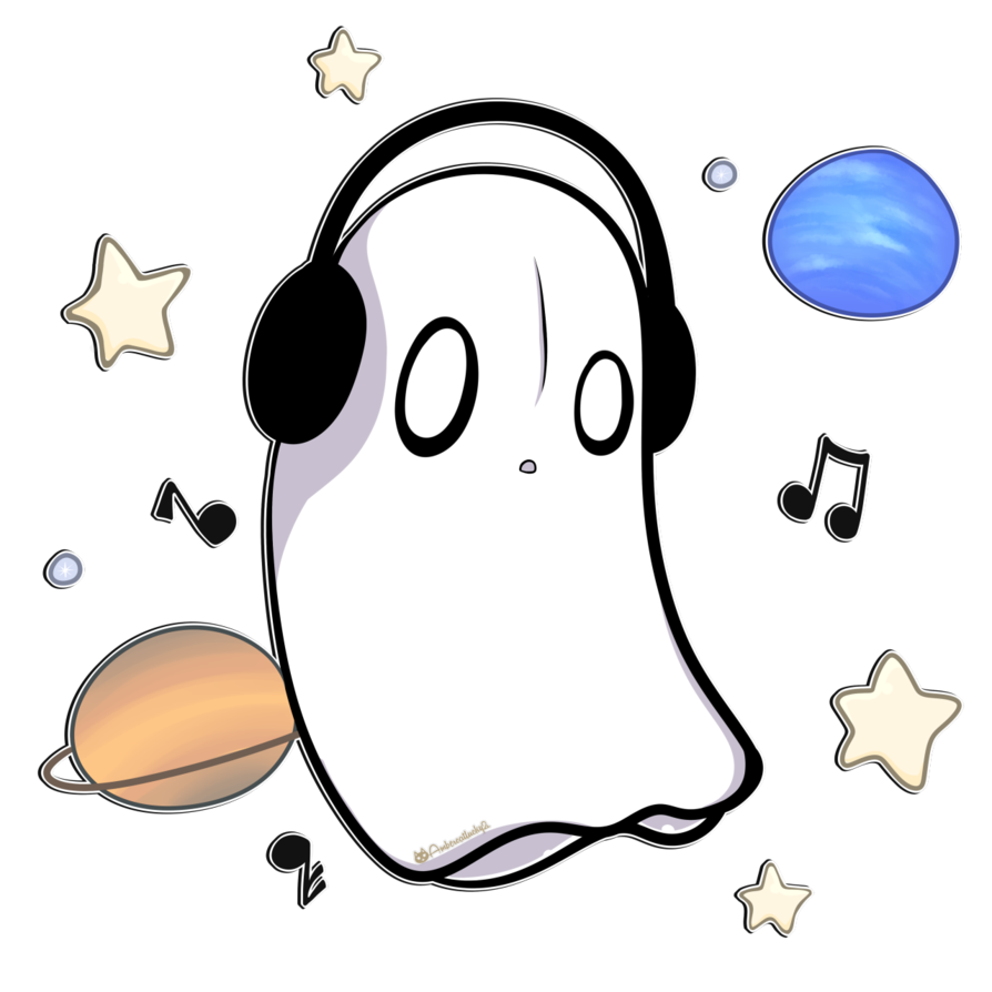 Poor drawing ghost. Music soothes the soul