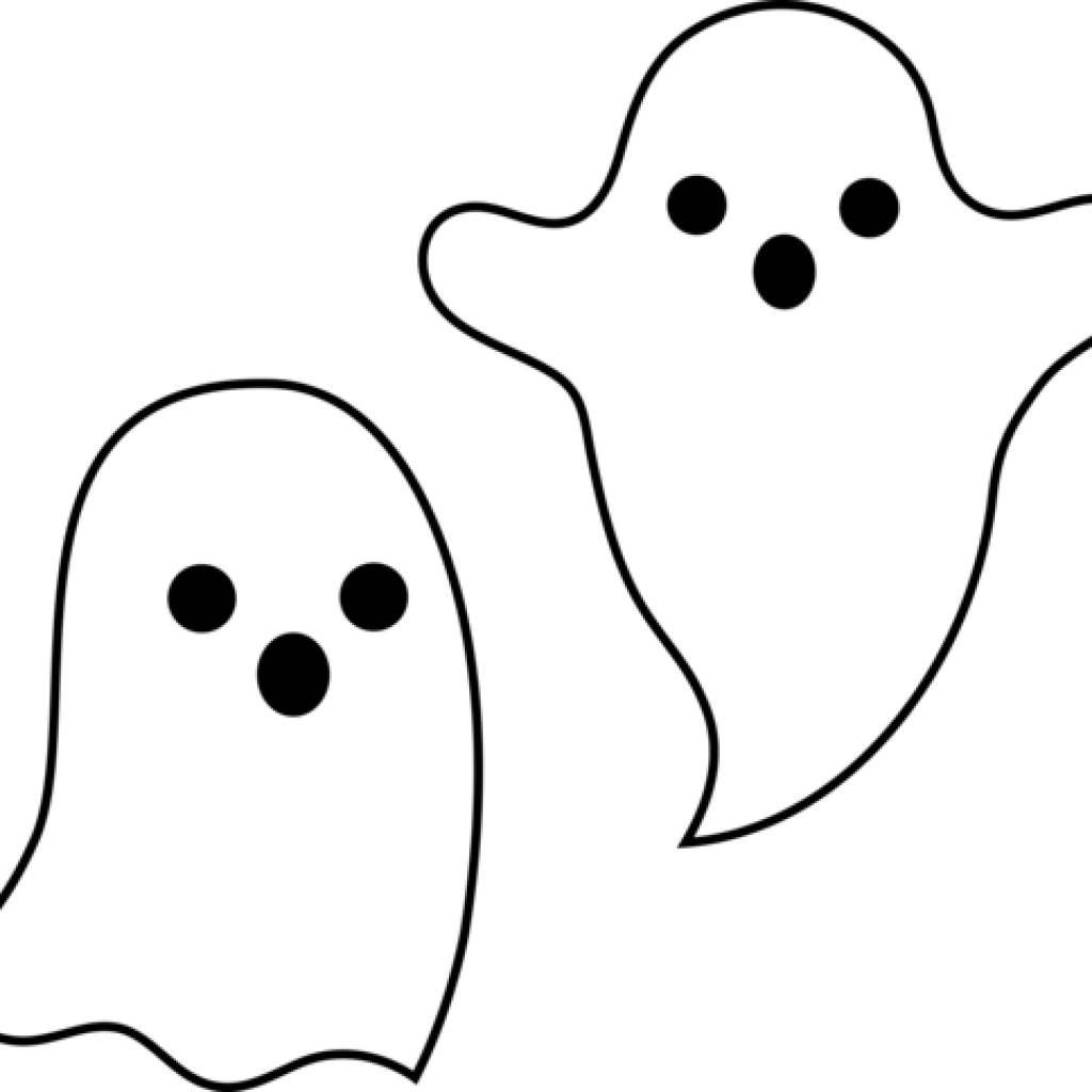 cute halloween art. Ghost clip spooky image freeuse library