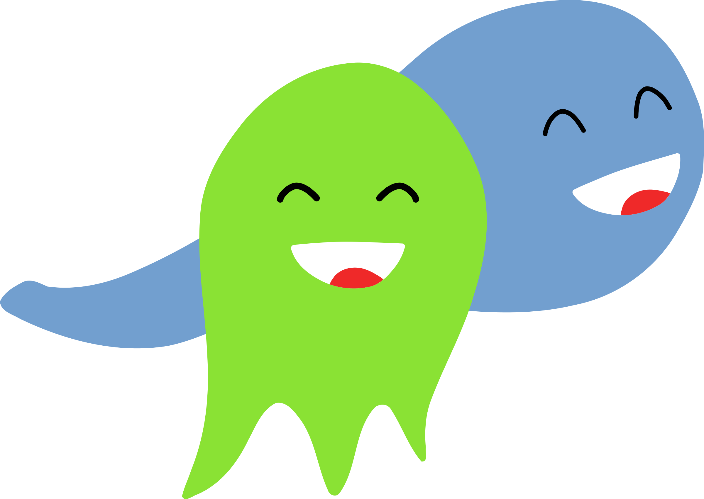 Ghost clip two. Clipart smiling ghosts big