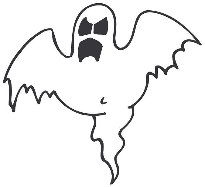 Scary clipart. Halloween ghost halloweenmas pinterest