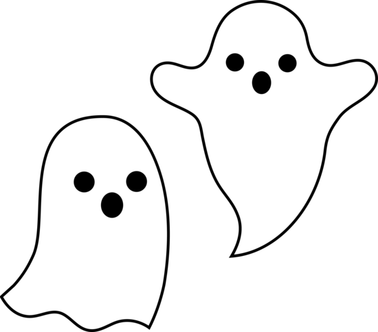 scary clipart ghost outline