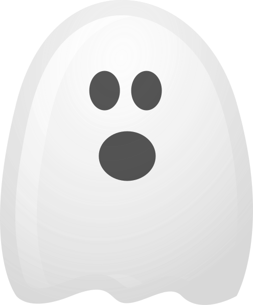 Ghost clipart. Surprised white png