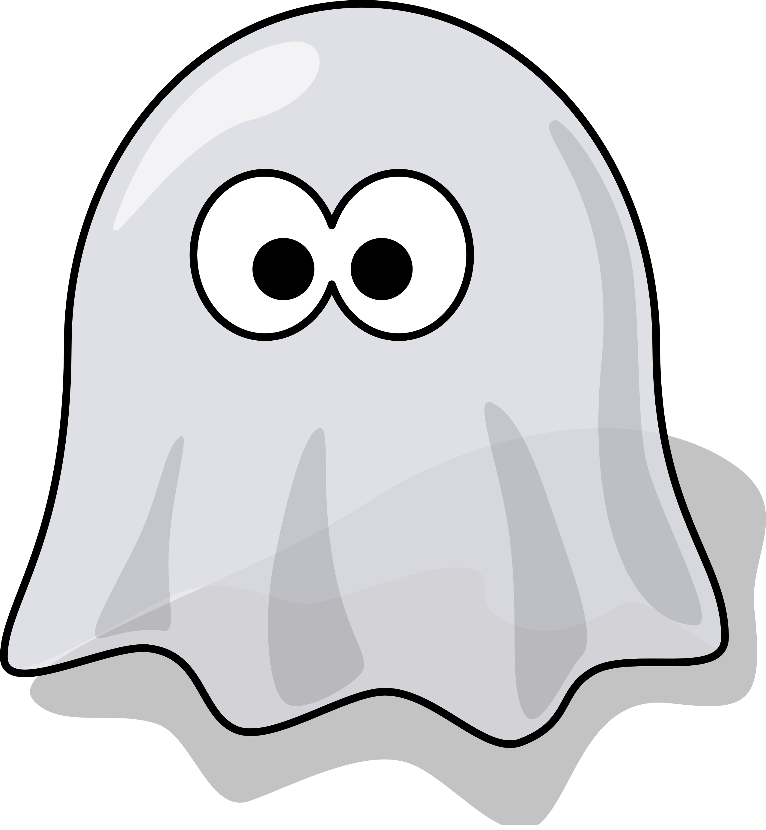 Tribal transparent ghost. Collection of clipart