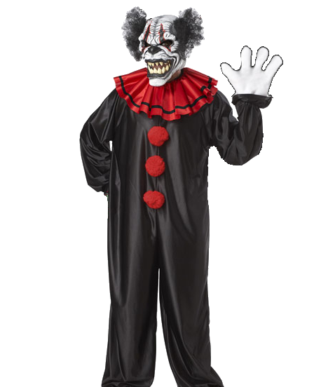 Ghost clown png. Demon costume and mask