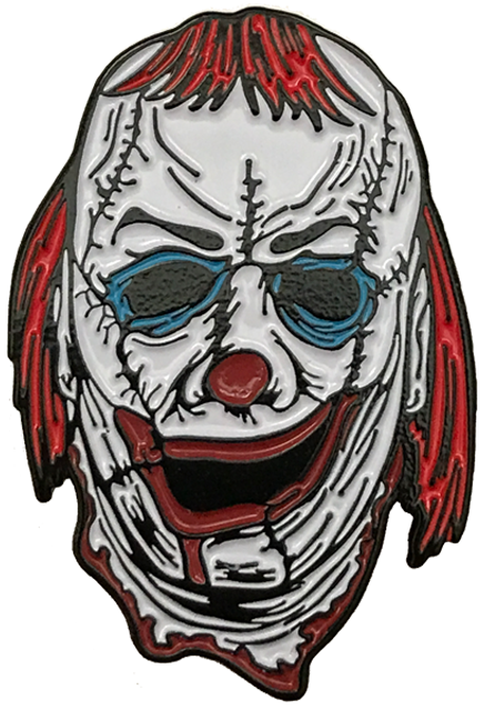 Ghost clown png. Skinner enamel pin