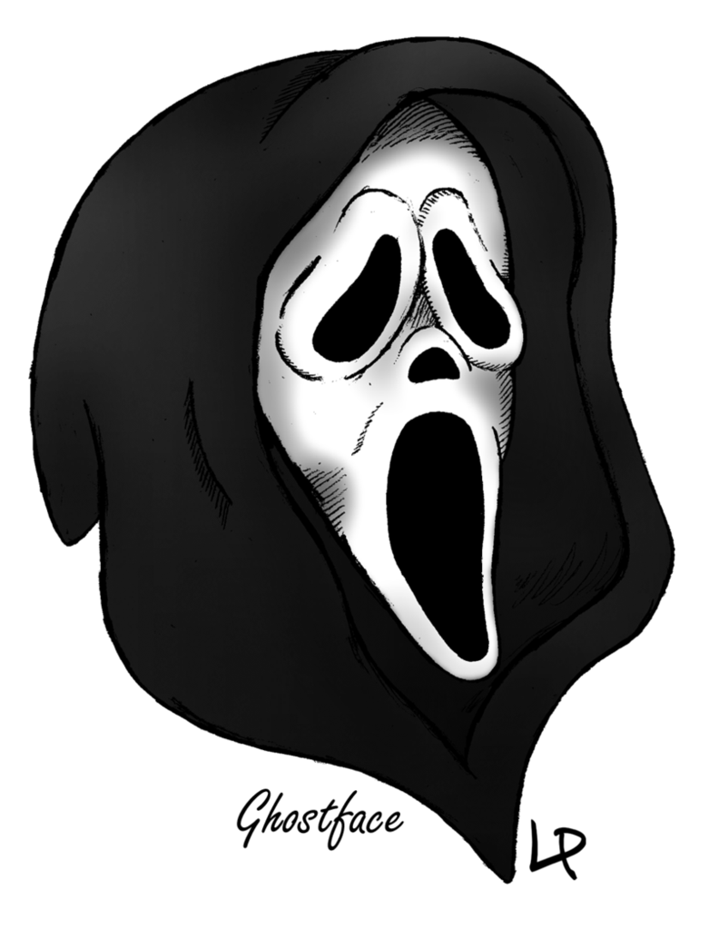 Ghostface drawing ghost face