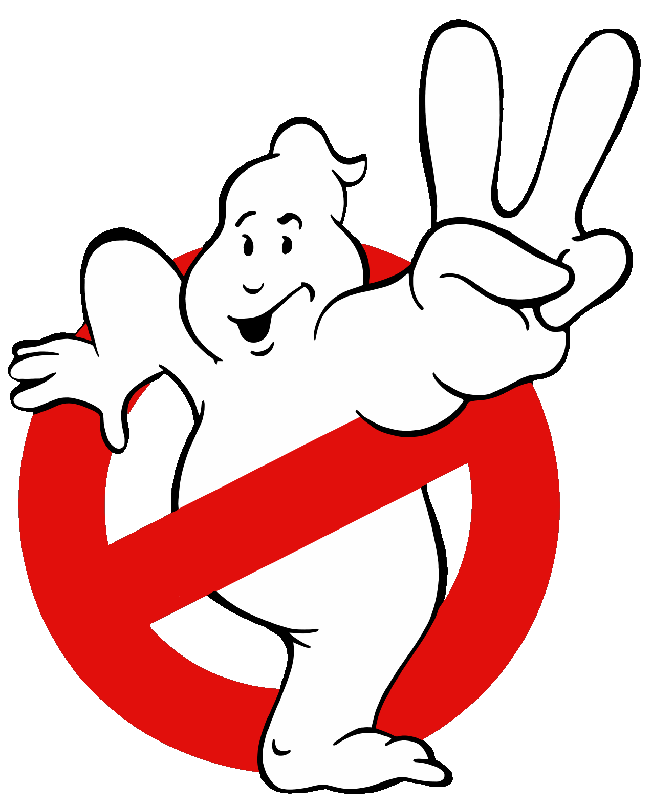 Ghostbusters logos . Slimer drawing happy svg black and white stock