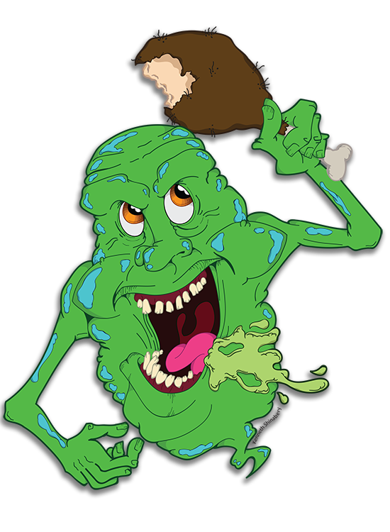 Slimer drawing green ghost. Ghostbusters on behance now