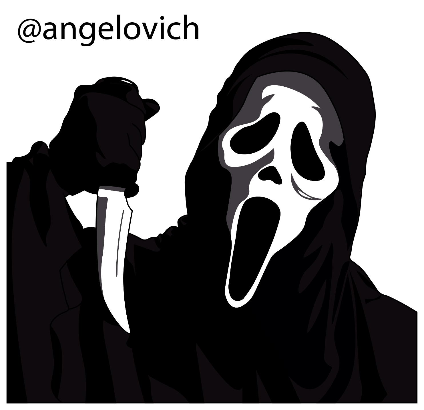 ghostface drawing stavo