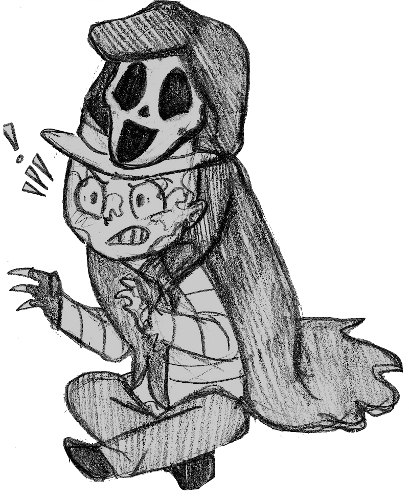 Ghostface drawing fanart. Like brothers by that