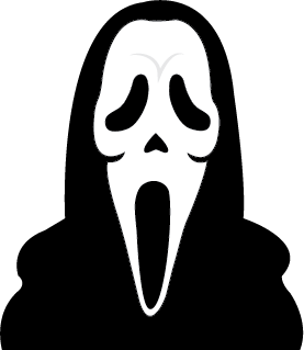 Ghostface drawing ghost face. Terror journey back in