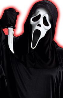 Ghostface drawing screaming. Talking scream decoration info