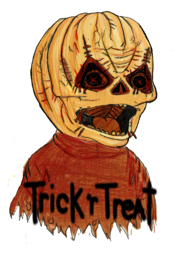 Ghostface drawing sam trick r treat. By little horrorz on