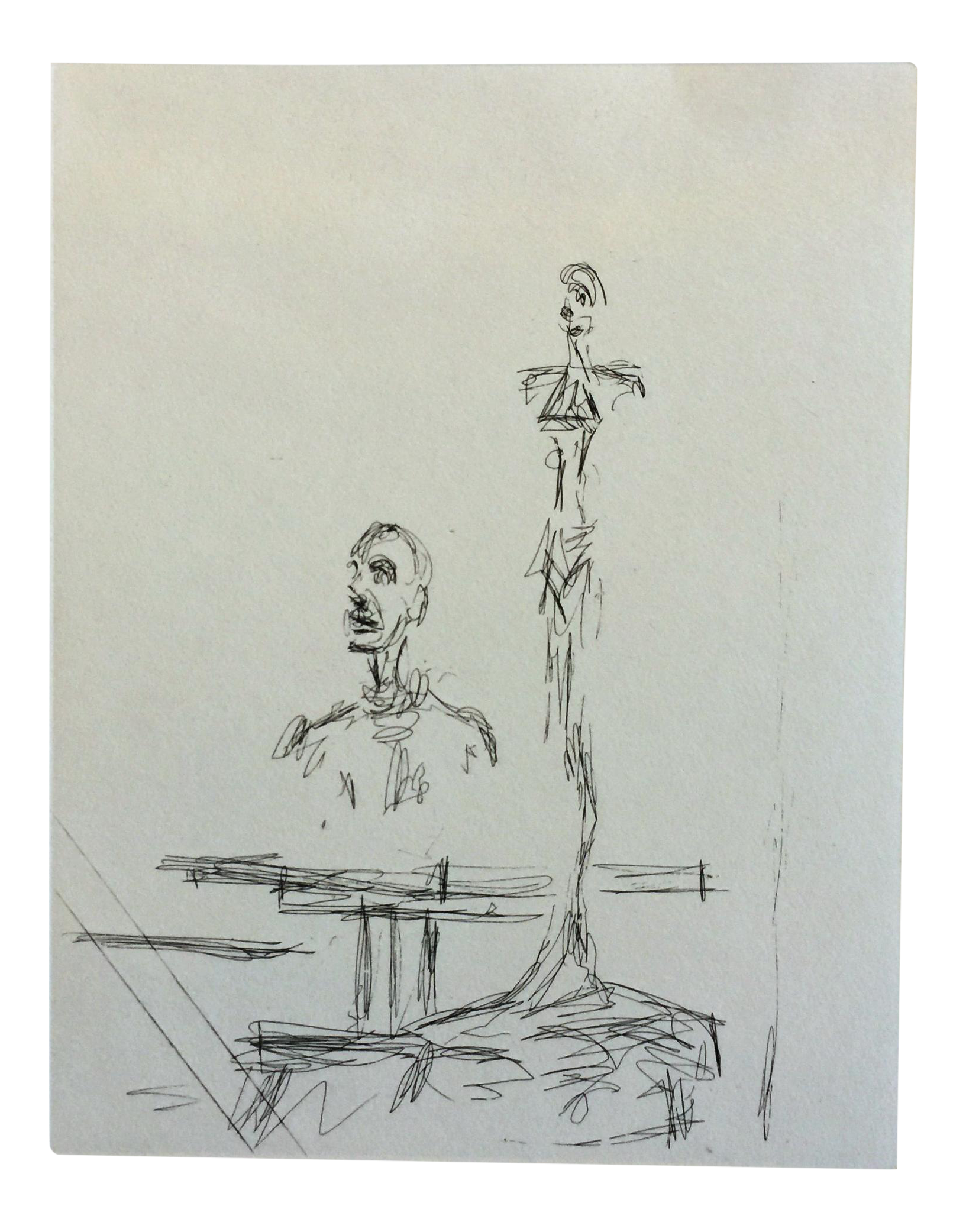 Giacometti drawing. The search alberto drypoint