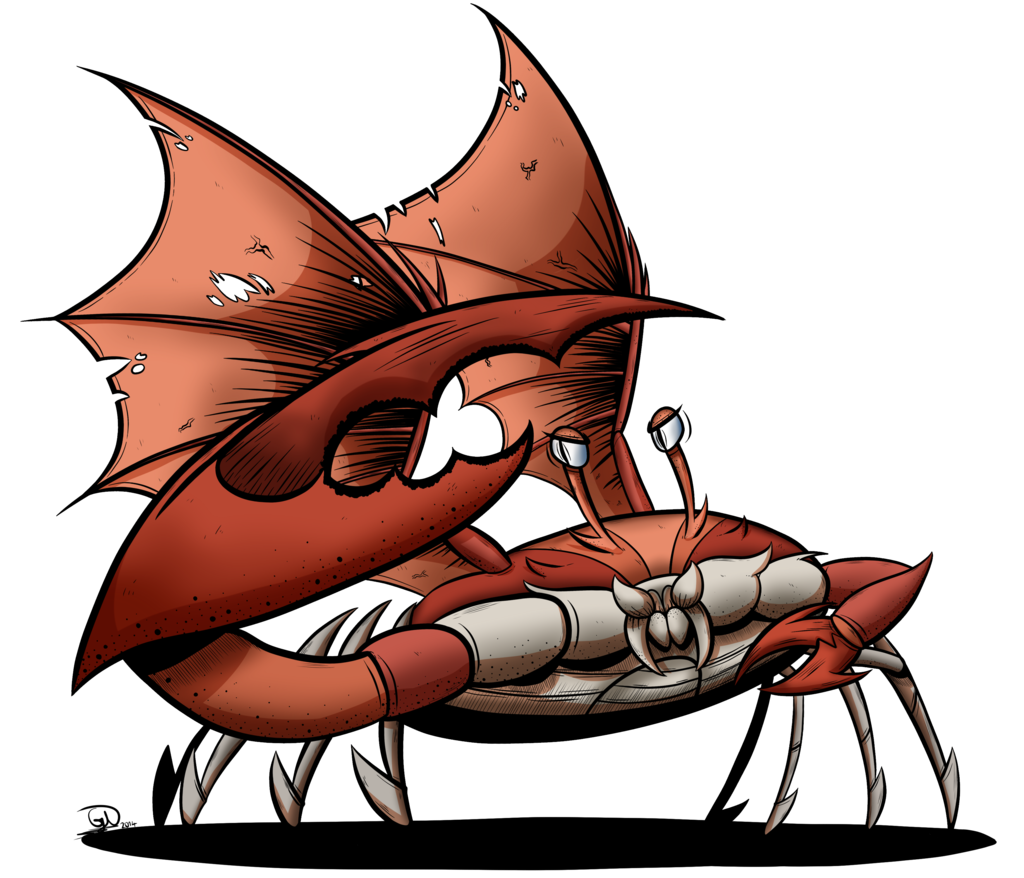 Giant crab png. Artist gray day