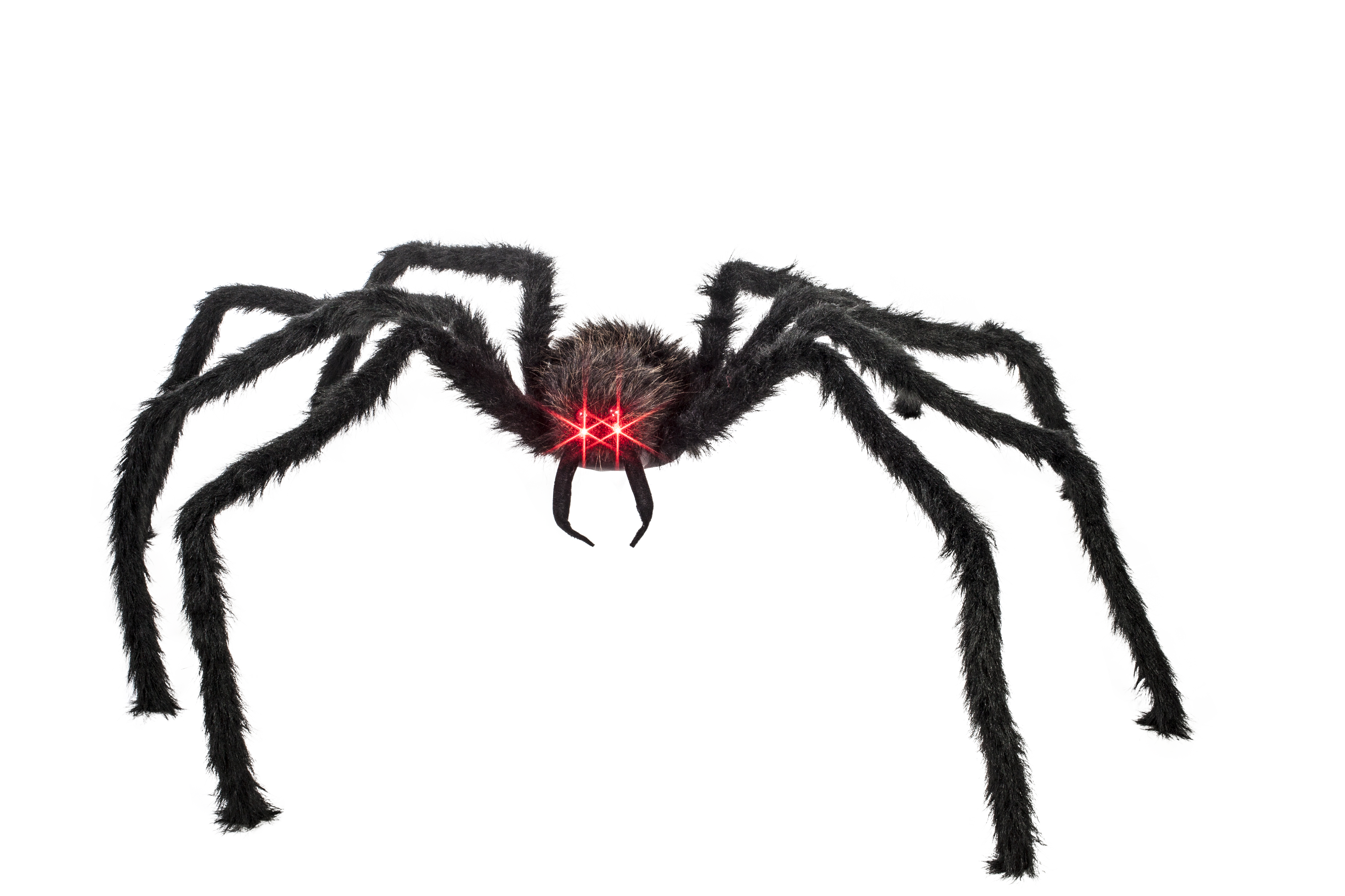 Giant spider png. With lighted red eyes