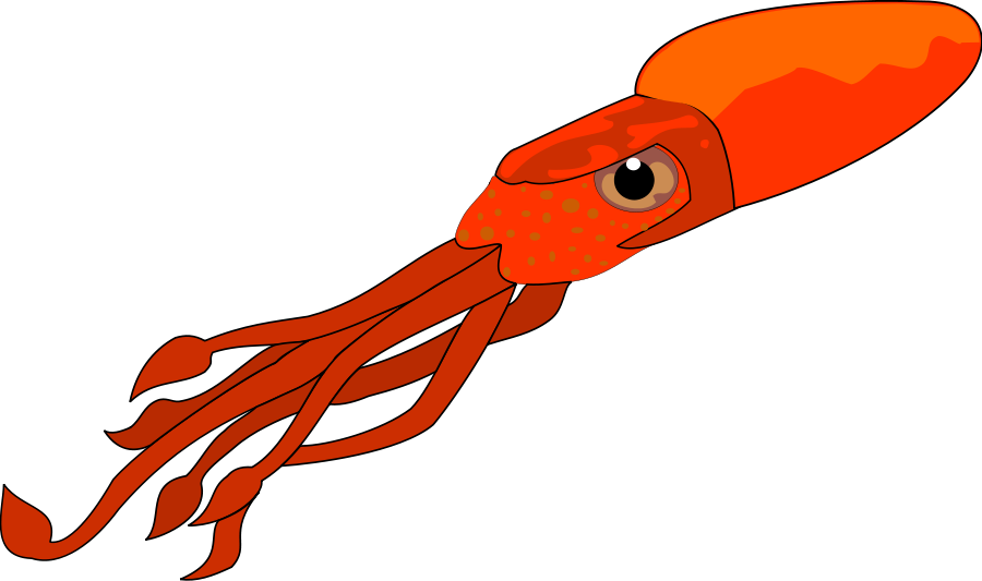 Giant squid cartoon png. Collection of clipart