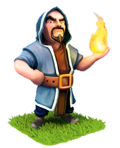 Drawing wizard barbarian. Characters clash of clans