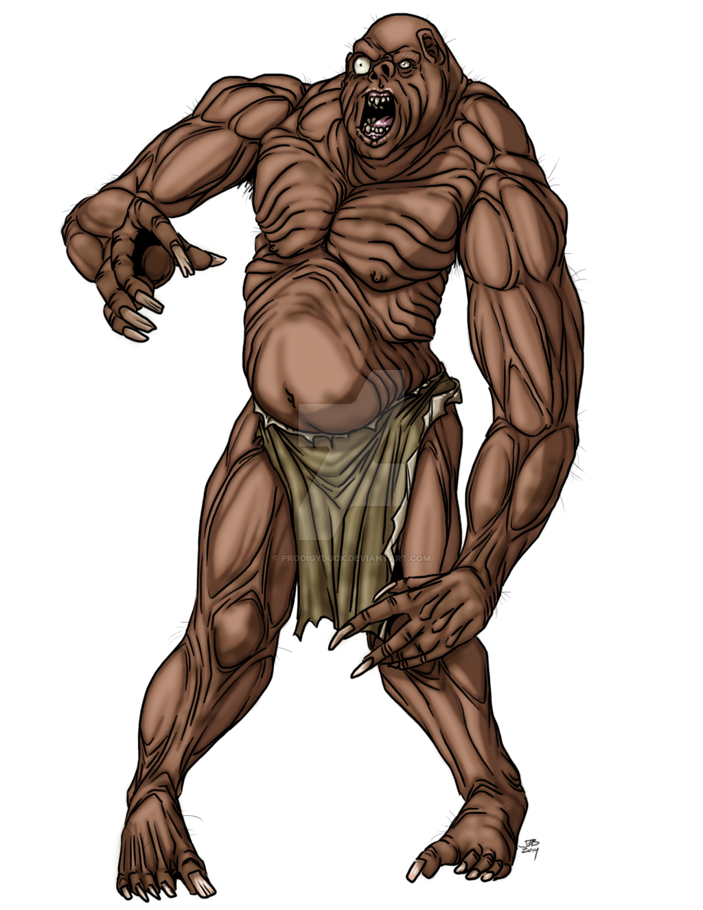 Giants drawing fantasy. Fomorian hill giant by