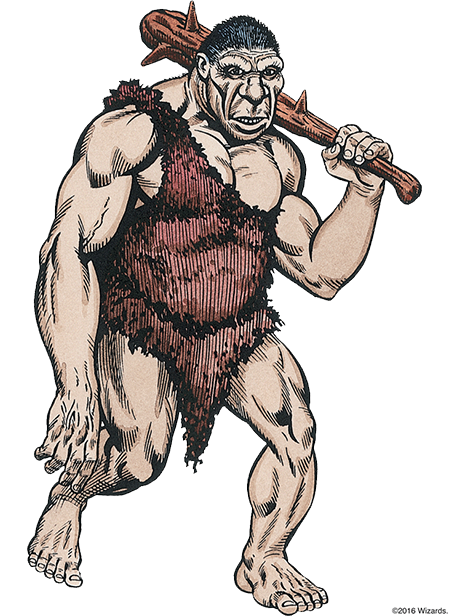 Giants drawing character. Monsters hill dungeons dragons