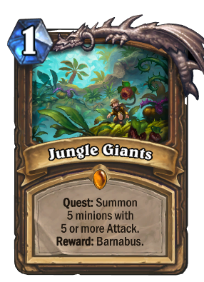 Giants drawing hidden. Jungle hearthstone cards deck