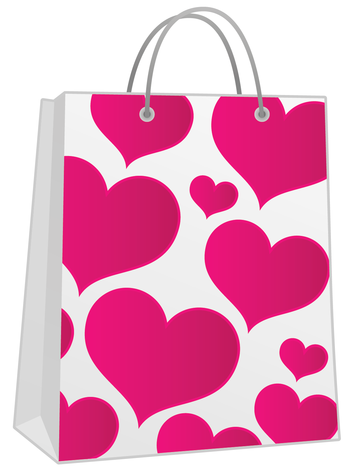 Gift bags png. Valentine pink bag with