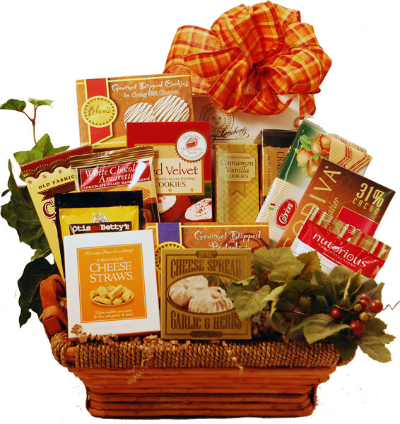 Gift baskets png. Savory and sweet basket