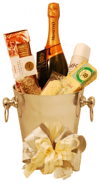 Gift baskets png. Prosecco italian wine basket