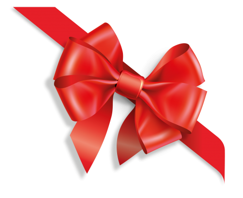 Vector presents present ribbon. Gift bow and two