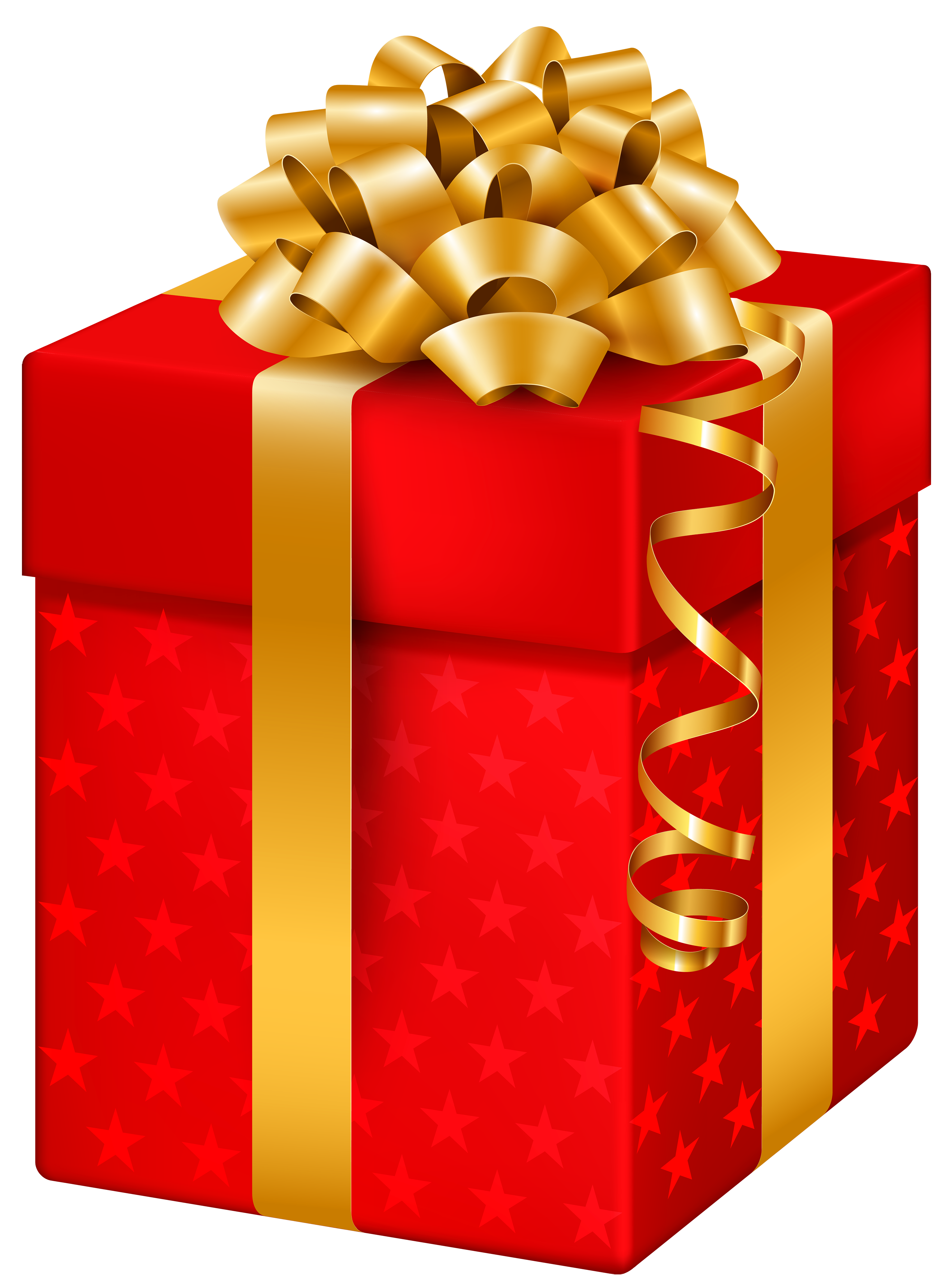 Gift boxes png. Red box with stars