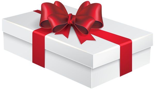 Gift boxes png. White box clipart image