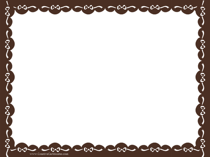 Gift certificate border png. Template new free award