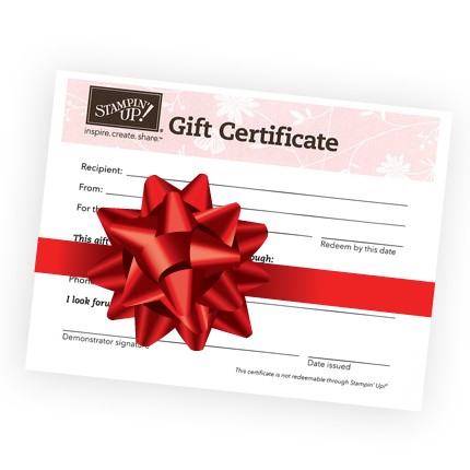 Gift certificate png. Stampin up certificates ideas